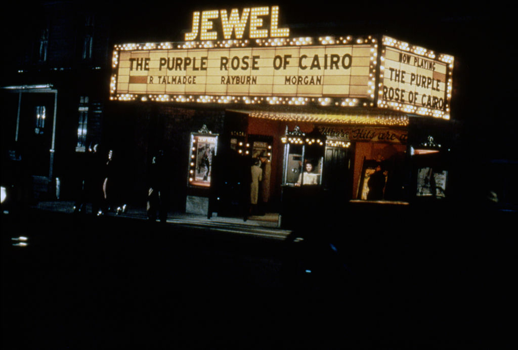 Movie theater showing The Purple Rose of Cairo