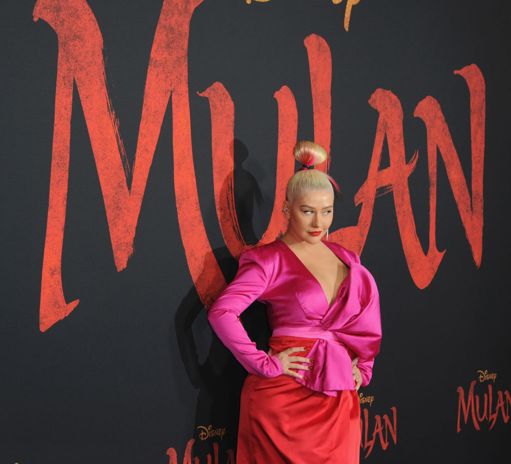 Christina Aguilera arrives for the Premiere Of Disney's 'Mulan'