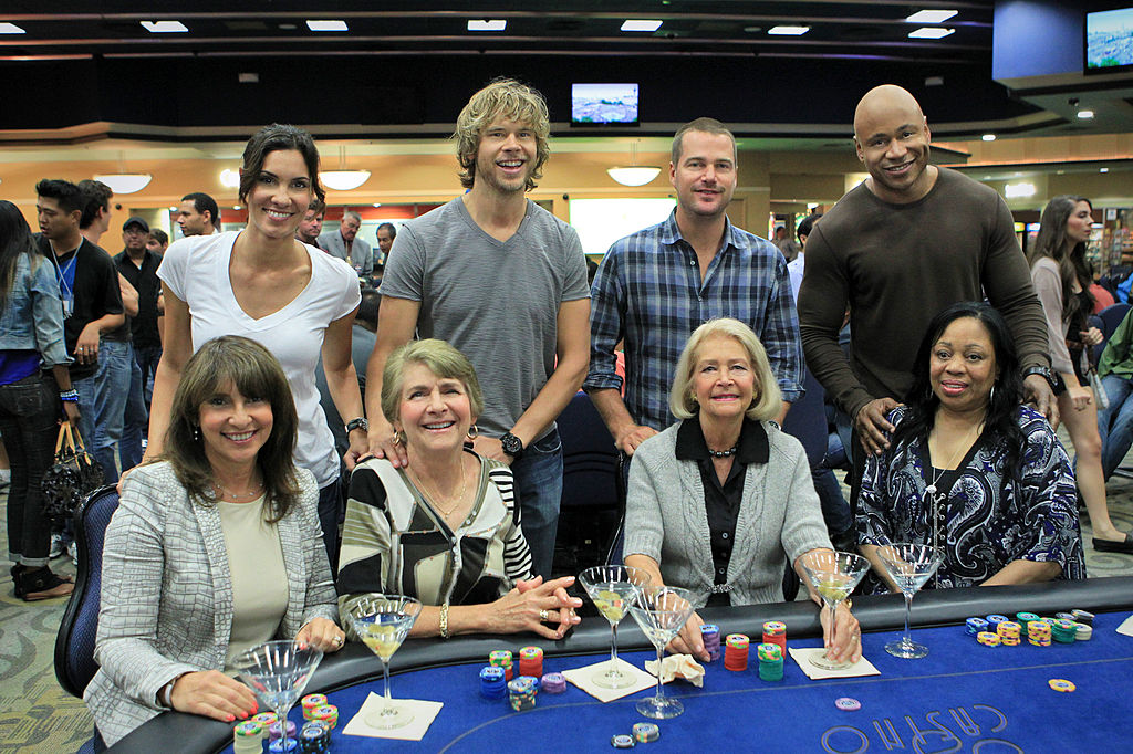 The NCIS Los Angeles cast with their mothers | Sonja Flemming/CBS via Getty Images