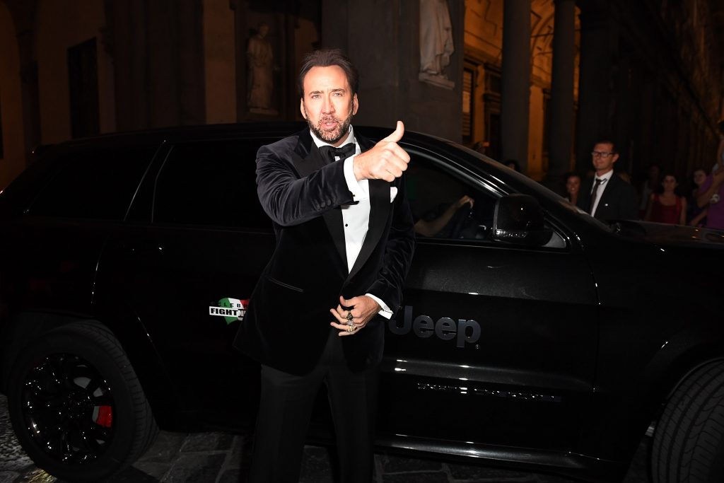 Nicolas Cage at the Celebrity Fight Night Gala dinner in Italy