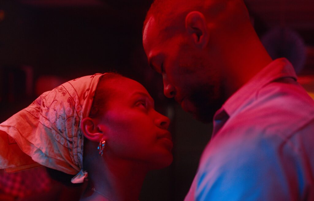 Nicole Beharie as  and Kendrick Sampson in 'Miss Juneteenth'