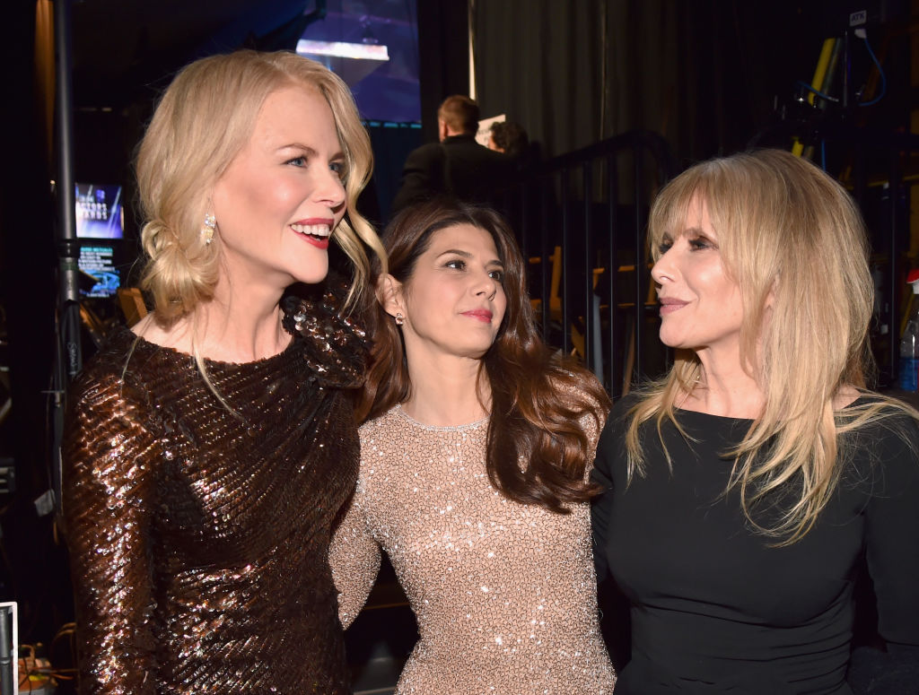 Nicole Kidman, Marisa Tomei, and Rosanna Arquette attend the 24th Annual Screen Actors Guild Awards at The Shrine Auditorium