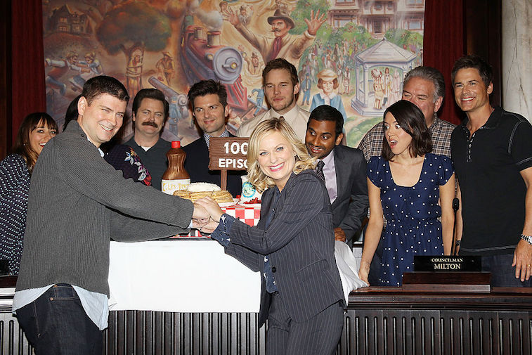 The 'Parks and Rec' cast at their 100th episode celebration