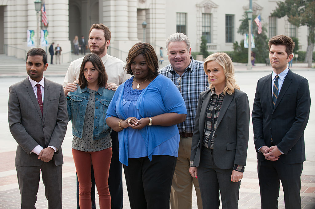Parks and Rec cast as their characters