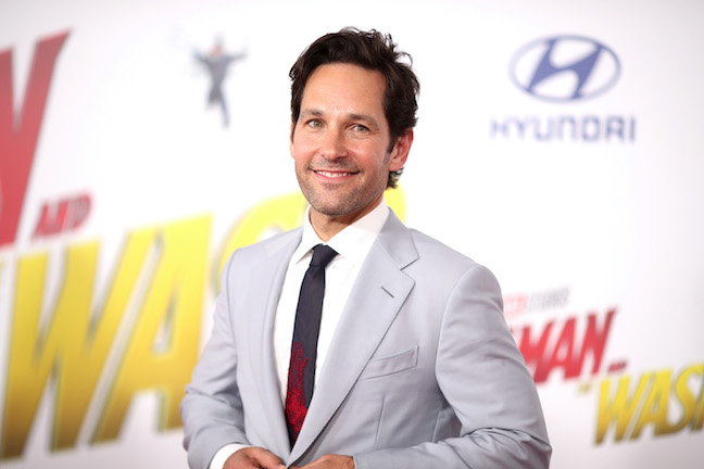 Paul Rudd walks the red carpet at the premiere of 'Ant-Man and The Wasp' in 2018
