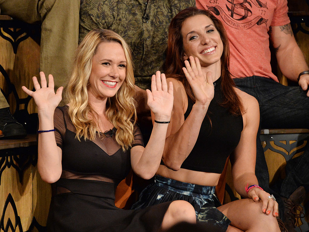 TV personalities Emily Schromm and Paula Meronek appear on MTV's 'The Challenge: Rivals II' final episode
