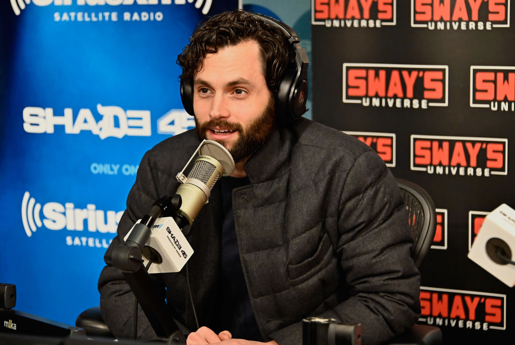 Actor Penn Badgley visits 'Sway in the Morning' hosted by SiriusXM's Sway Calloway on Eminem's Shade 45 at the SiriusXM Studios on February 04, 2020 in New York City.
