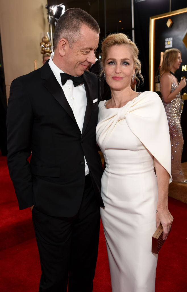 Peter Morgan and Gillian Anderson