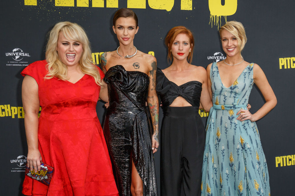 Rebel Wilson, Ruby Rose, Brittany Snow, and Anna Camp arrive ahead of the Australian Premiere of 'Pitch Perfect 3'