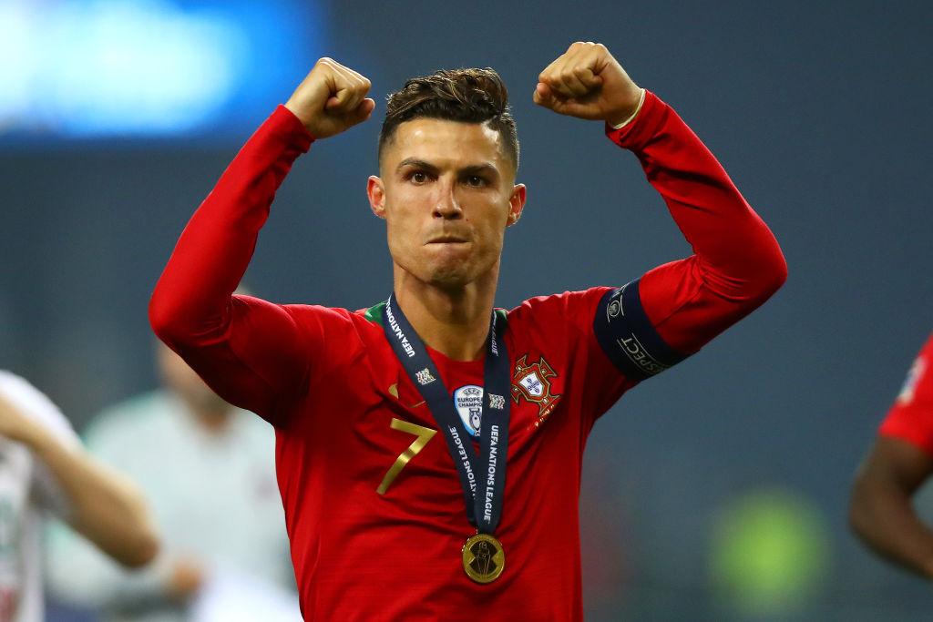 Cristiano Ronaldo during a Portugal game
