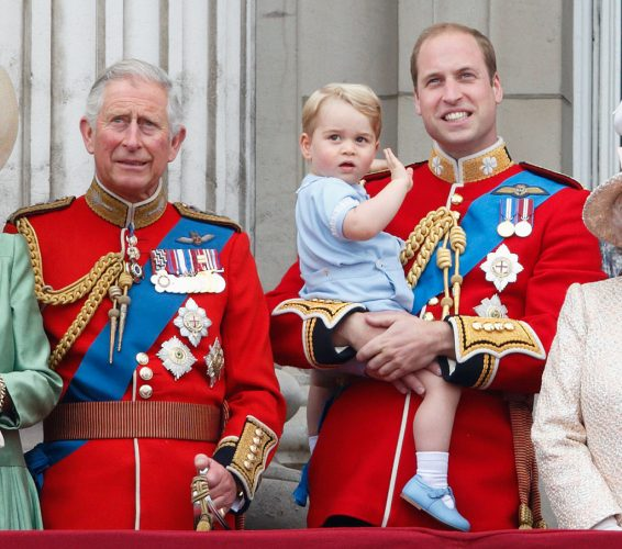 Prince Charles, Prince William, and Prince George at 2015 Trooping the Colour