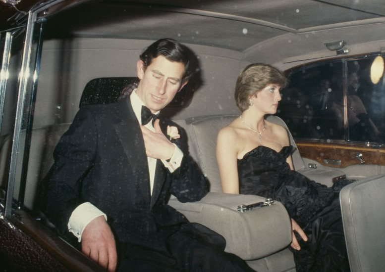 Prince Charles and then-fiancee Lady Diana Spencer