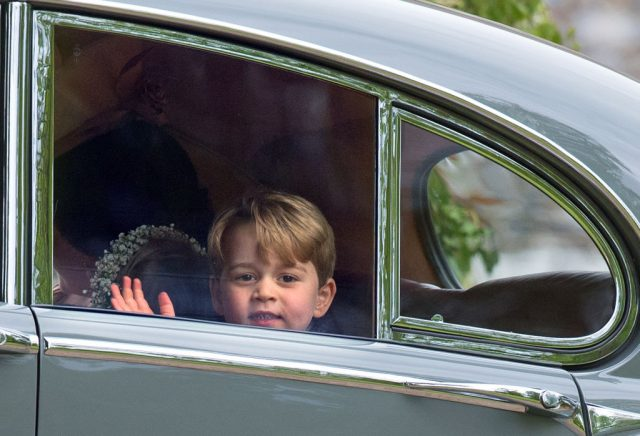 Prince George waves at Pippa Middleton's wedding
