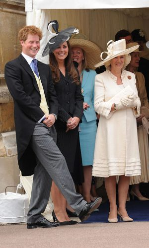 Prince Harry, Kate Middleton, and Camilla Parker Bowles at 2008 Order of the Garter Service