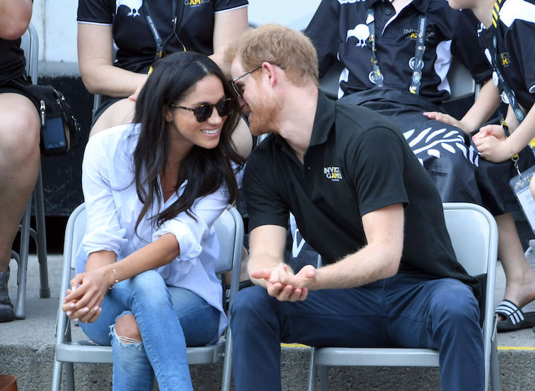 Prince Harry and Meghan Markle in 2017