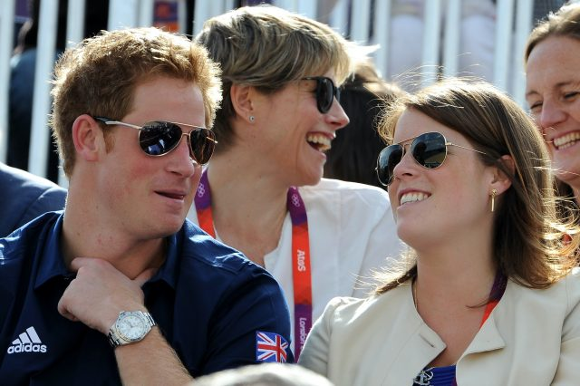 Prince Harry and Princess Eugenie attend the London Olympics