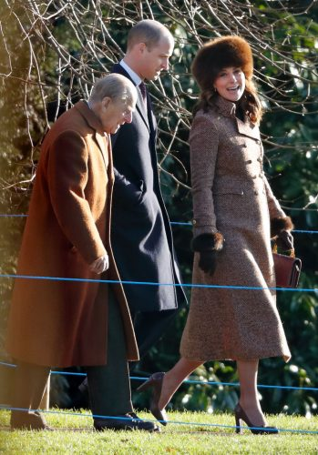 Prince Philip, Prince William, and Kate Middleton attend church