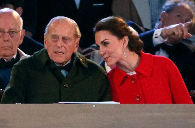 Prince Philip and Kate Middleton chat at the 2016 Royal Windsor Horse Show