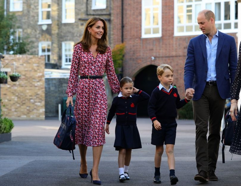 Prince William, Kate Middleton,Prince George, and Princess Charlotte