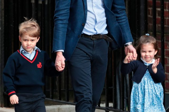Prince William takes Prince George and Princess Charlotte to the Lindo Wing