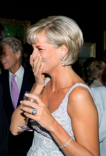 Princess Diana attends Christie's pre-auction party for auction of her dresses