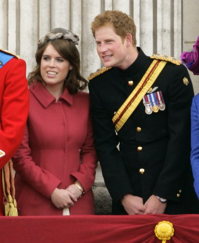Princess Eugenie and Prince Harry attend 2012 Trooping the Colour
