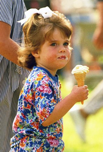 Princess Eugenie eats ice cream at the Royal Windsor Horse Show