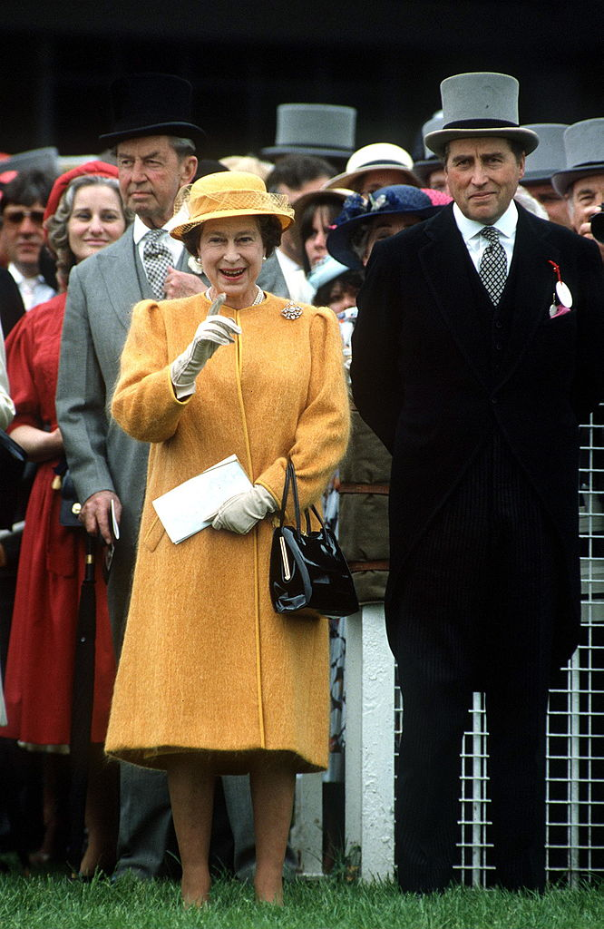 Queen Elizabeth II and Lord Porchester