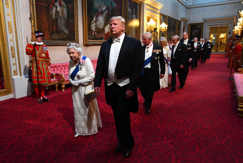 Queen Elizabeth II and President Donald Trump
