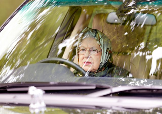 Queen Elizabeth II drives to the Royal Windsor Horse Show, 2017