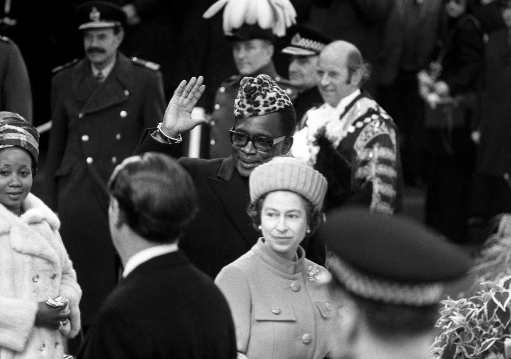 Queen Elizabeth and President Mobutu