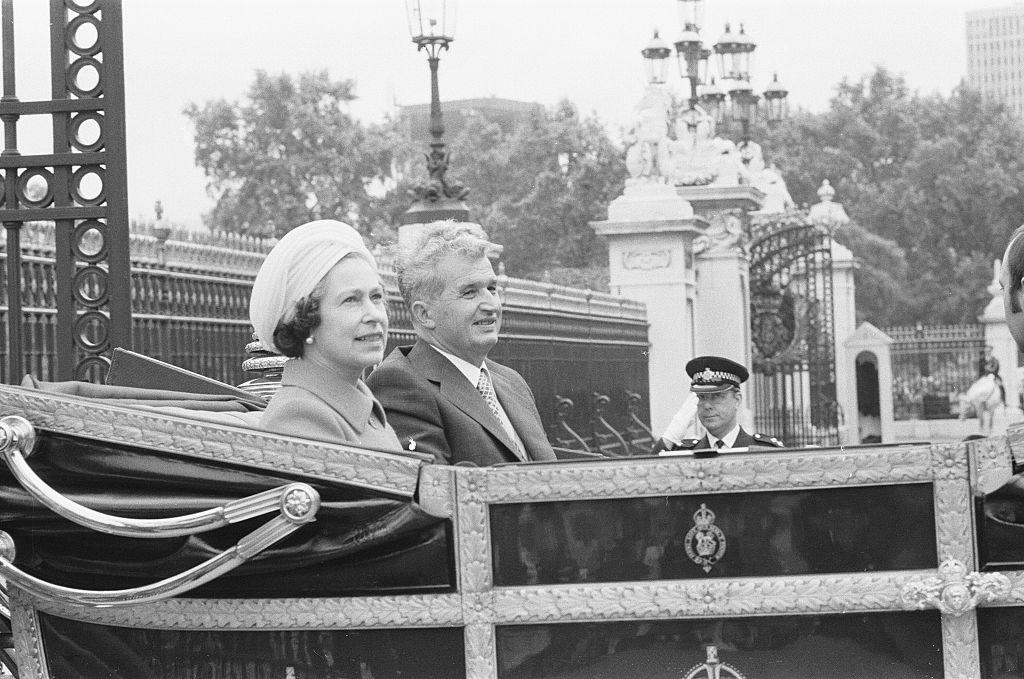 Queen Elizabeth and Nicolae Ceaușescu