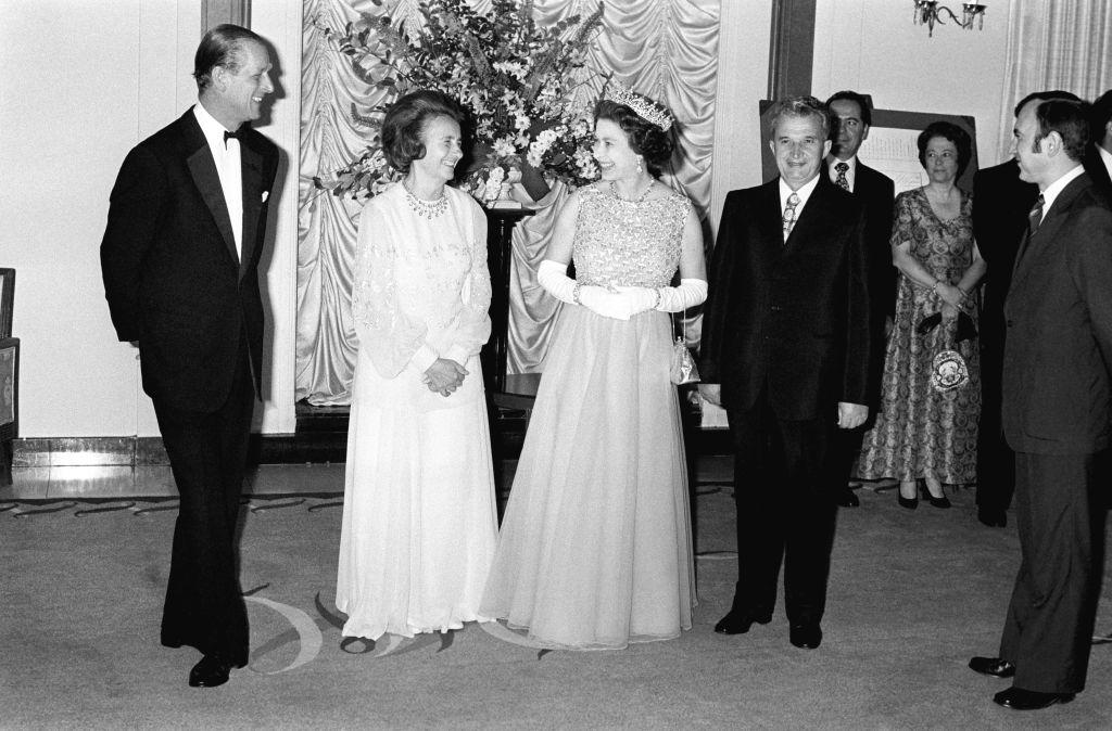 Queen Elizabeth and Nicolae Ceausescu