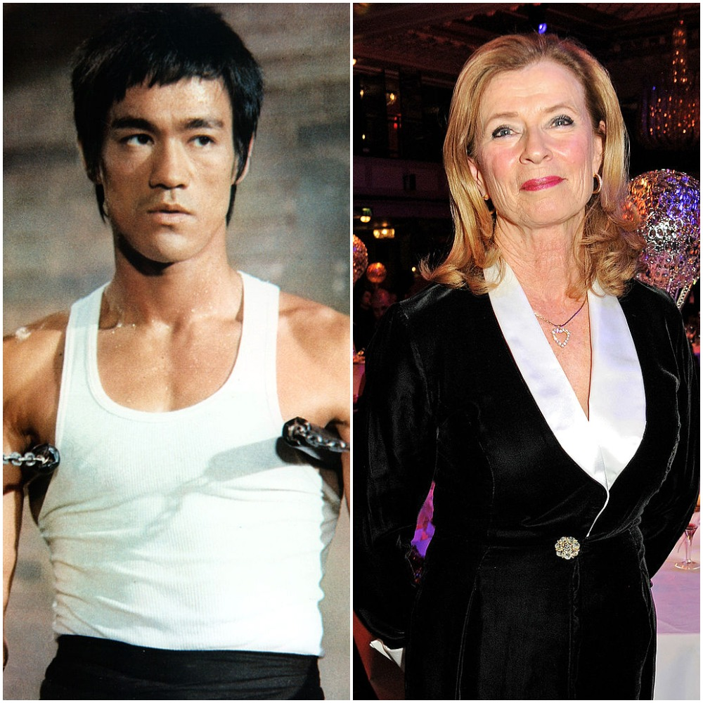 (R) Bruce Lee, (L) His widow, Linda Lee Cadwell