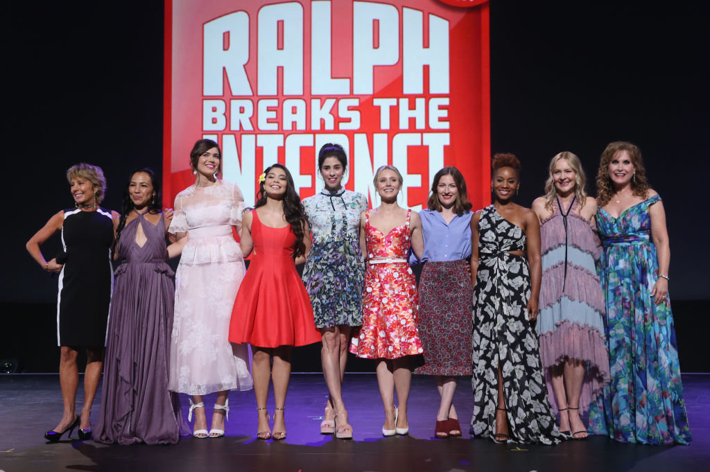 Cast of 'Ralph Breaks the Internet,' featuring the voices of Disney Princesses