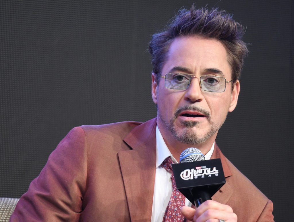Robert Downey Jr. during a press conference for the movie 'Avengers: End Game'