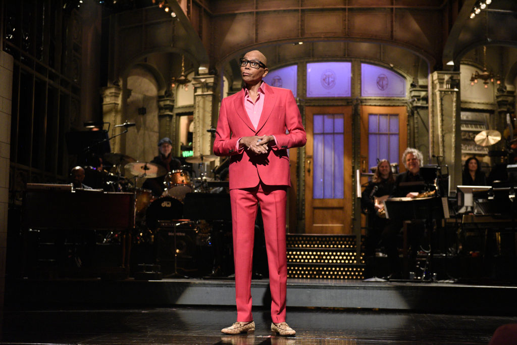 Host RuPaul during his 'Saturday Night Live' monologue