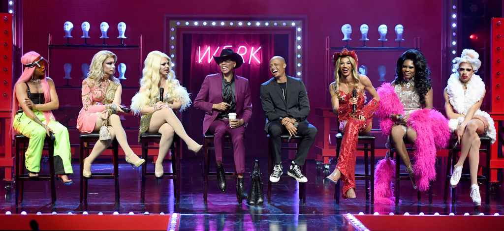 Cast members Vanessa Vanjie Mateo, Kameron Michaels, and Derrick Barry, directors RuPaul and Jamal Sims and cast members Naomi Smalls, Asia O'Hara, and Yvie Oddly