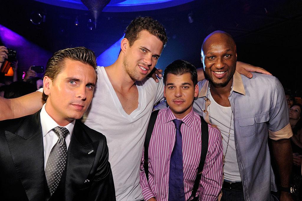 Scott Disick, Kris Humphries, and Lamar Odom with Robert Kardashian
