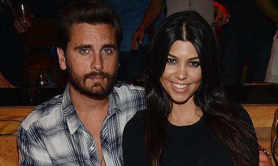 Scott Disick and Kourtney Kardashian at a club in April 2015