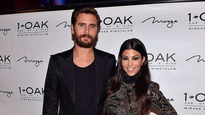 Scott Disick and Kourtney Kardashian at a club