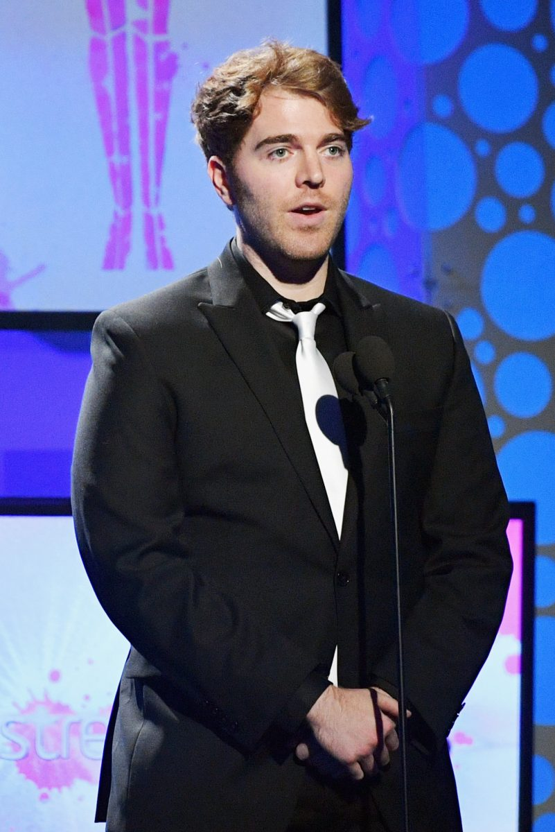 Shane Dawson speaks onstage during a tribute to the late Christina Grimmie the 6th annual Streamy Awards