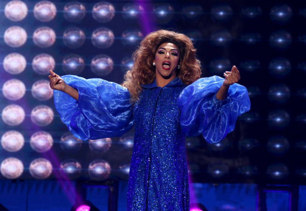 Television personality Shangela Laquifa Wadley performs during the 2020 GayVN Awards show
