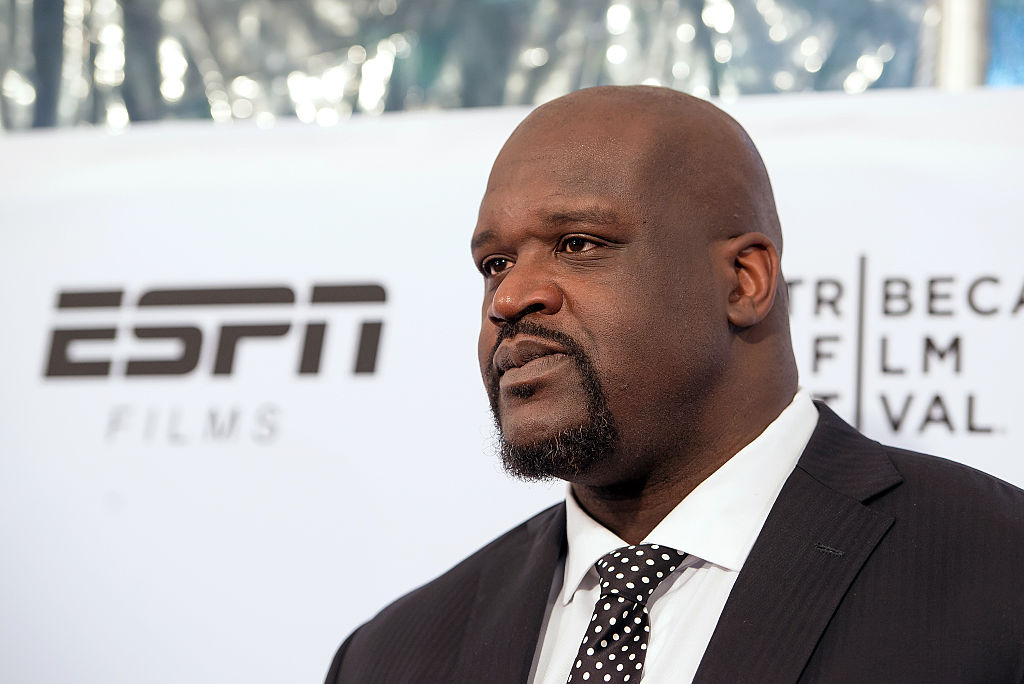 Shaquille O'Neal at the premiere of an ESPN documentary