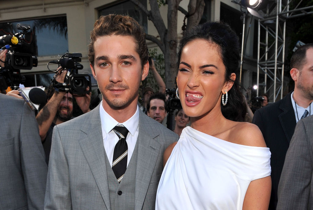 Actor Shia LaBeouf and actress Megan Fox arrive on the red carpet of the 2009