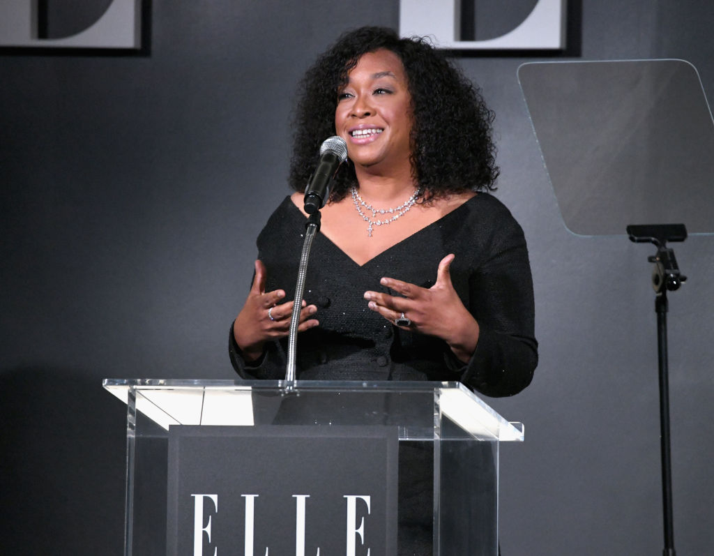 Shonda Rhimes speaks onstage during ELLE's 25th Annual Women In Hollywood Celebration