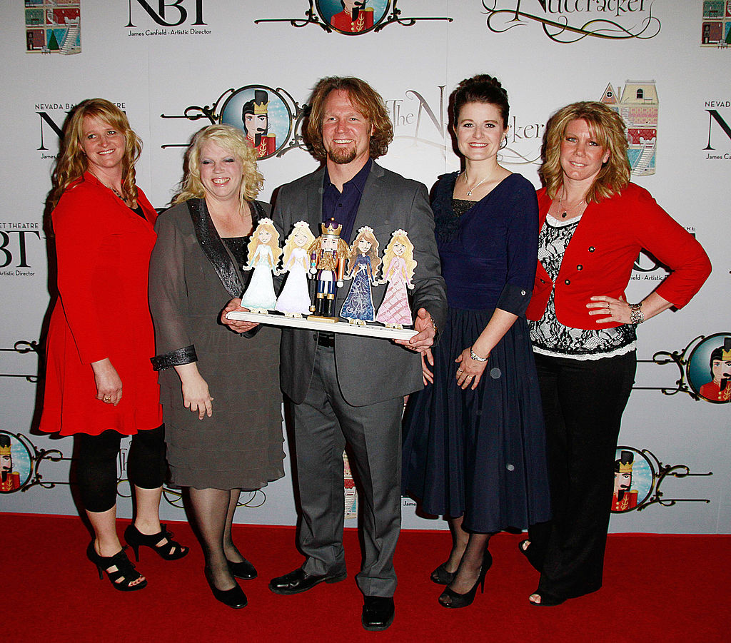 """Christine Brown, Janelle Brown, Kody Brown, Robyn Brown and Meri Brown attend the Nevada Ballet Theatre's Production of """"The Nutcracker"""" opening night performance at the Smith Center"""