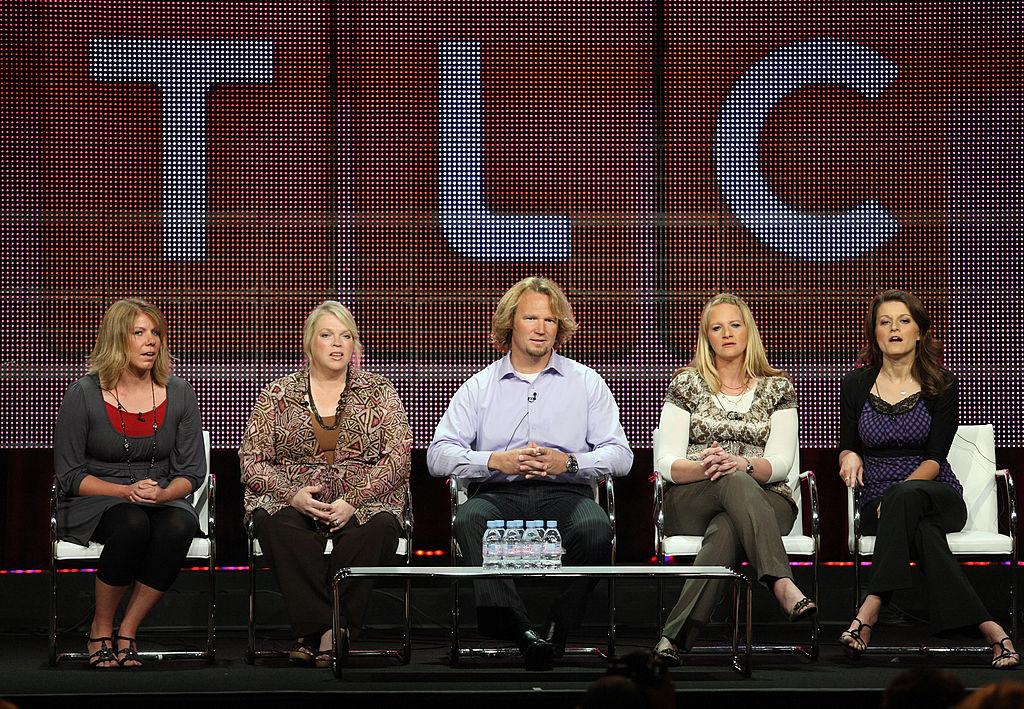 Meri Brown, Janelle Brown, Kody Brown, Christine Brown and Robyn Brown speak during a panel