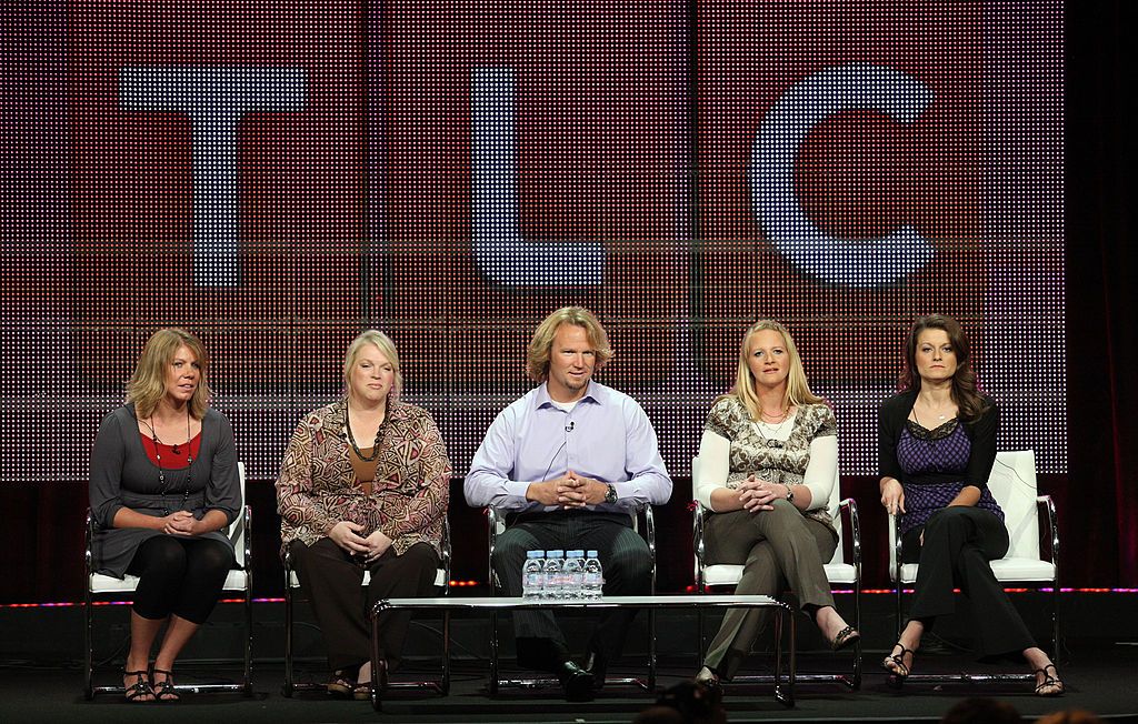 Meri Brwon, Janelle Brown, Kody Brown, Christine Brown and Robyn Brown speak duinrg the 'Sister Wives' panel