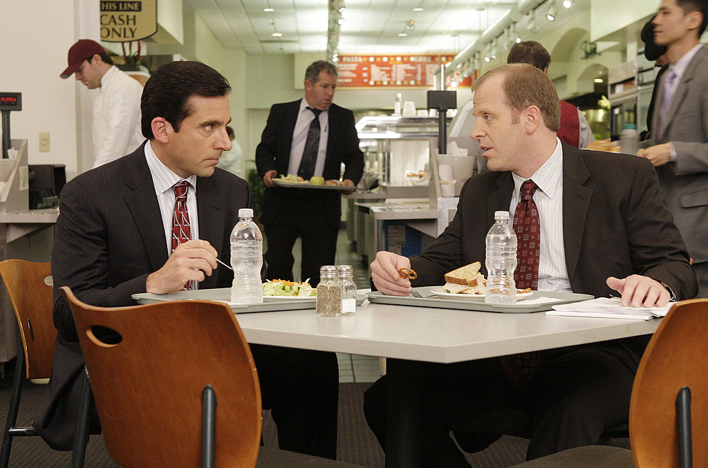 The Office cast members Steve Carell and Paul Lieberstein